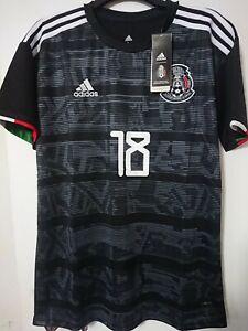 Andrés Guardado #18 Mexico Black 2019 jersey L