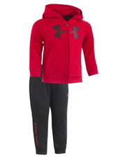 NEW Under Armour Big Logo Armour Fleece Hoodie and Pants Set for Babies 18M