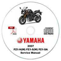 Yamaha FZ1-N(W) FZ1-S(W) FZ1-SA 2007 Service Manual CD
