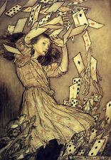 Alice In Wonderland - 8x10 print of 1907 Arthur Rackham book plate - #13