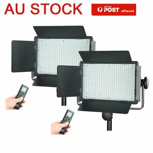 AU 2pcs Godox LED500C 3300-5600K Camera Video Continuous Wedding Lighting Kit