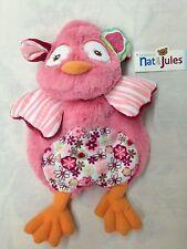 "NEW Nat & Jules ""Floralicious Owl Evette"" Plush Purse #N00593"