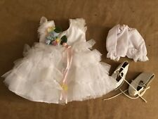 """Baby take a bow Shirley Temple the Danbury Mint 16"""" doll white dress clothing"""