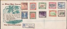 NIUE 1950 Definitive set on registered FDC to New Zealand....................235