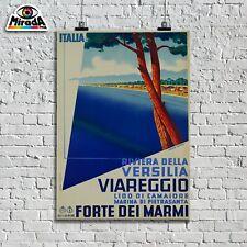 POSTER locandina VINTAGE Viareggio Versilia Forte dei Marmi Camaiore vacanza TOP