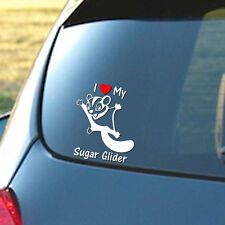 I Love My Sugar Glider - Vinyl decal sticker for car, laptop. Adorable! FREE S&H
