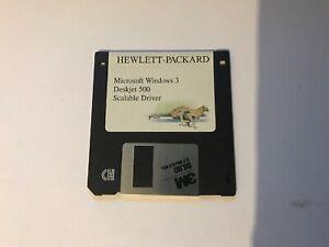 "HP Deskjet 500 Scalable Driver Windows 3.0 (3.5"" Floppy Disk)"