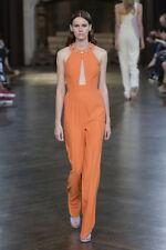 GIULIETTA Orange Crystal Jeweled Cut Out Dress Jumpsuit 42  4  6