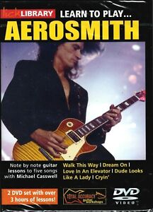 Lick Library - Learn To Play...AEROSMITH - Guitar Tuition - 2 DVD - NEW/Sealed!