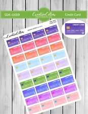 Sdk-0009 Planner Stickers Functional Icons 36 Credit Card Stickers