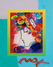 Peter Max, Blushing Beauty on Blends 2007 #2280 (Framed Original Painting)