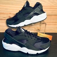 Nike Air Huarache Run Women's Running Shoes Size 8 Black White NEW 634835-006