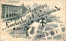 CPA MILANO Via S Radegonda 14. Albergo Lombardia S. Radegonda ITALY (a4967)
