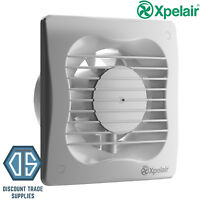 "Xpelair VX100 4""/100mm Bathroom Toilet Extractor Fan Standard 93224AW Shower"