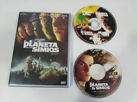 EL PLANETA DE LOS SIMIOS PLANET OF THE APES - 2 X DVD + EXTRAS ESPAÑOL ENGLISH