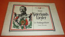 Kaiser Wilhelm II. Notenbuch Vaterlandslieder für Schlagzither Hindenburg Marsch