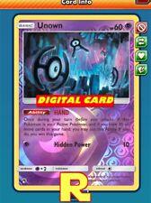 Unown ( HAND FOIL ) - for Pokemon TCG Online (DIGITAL ptcgo in Game Card)