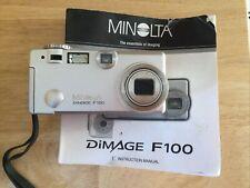 Minolta Dimage F100 4Mp Digital Camera w/ 3x Optical Zoom nice! used