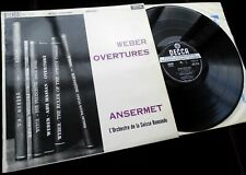 Weber: Overtures - Ernest Ansermet **Decca SXL 2112 WBg ED1 LP**