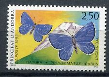 TIMBRE ANDORRE FRANCE NEUF N° 432  **  FAUNE PAPILLONS POLYMMATUS ICARUS