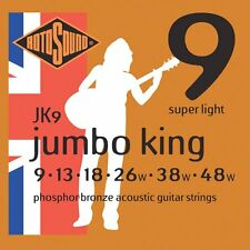 1 Set of Rotosound JK9 Super Light Jumbo King Phosphor Bronze Acoustic Strings