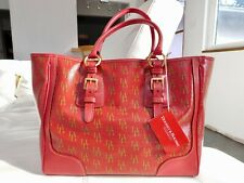 Authentic New RED DOONEY & BOURKE LARGE TAYLOR SHOPPER TOTE BAG $268