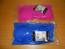 NEW SEAMLESS STRAPLESS PADDED BRA FREE SIZE IN ROYAL BLUE & FUSCHIA PINK NICE!
