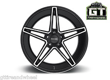 """20 Inch Foose Voss F164 20"""" 20X9 20X10 Black/Machined Face Wheels Rims Staggered"""