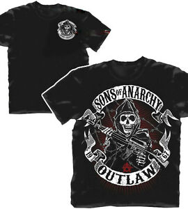 Officially Licensed Sons of Anarchy Outlaw Reaper Adult T-Shirt