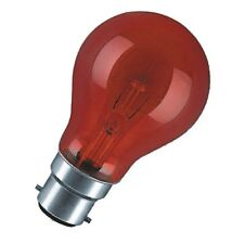 Polaris 60w bc/b22 red fireglow incandescent gls bulb - pack of 2