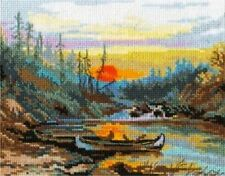 ALISA COUNTED CROSS STITCH KIT    RIVER IN TAIGA  LANDSCAPE    NEW