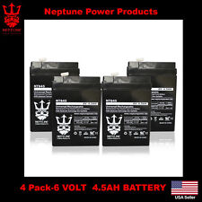4 NT645 PS640 Battery Lead Acid Battery 6V 4.5ah 6 Volt Mojo Game Feed 2 Yr Warr