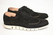 Mens Cole Haan ZeroGrand Wingtip Oxford Shoe- Black Suede- 10.5 M - C12981 (Y32)