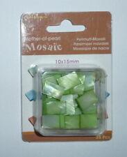 Mosaïque de Nacre 10x15mm Vert clair - Blister 35 pièces / Loisirs créatifs, DIY