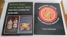 Lot of 2 American Indian Art Needlepoint Designs HC Books in DJ