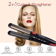 2-in-1 Hair Straightener & Hair Curler Flat Iron Curling Hair Styling Tool