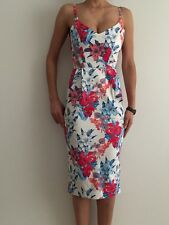 Women Floral Bodycon Formal Wedding Cocktail Party Midi Dress Size 6-8-10-12-14