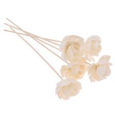 5 Pcs Rattan Reed Rose Flowers Aroma Diffuser Refill Sticks Home Fragrance Decor