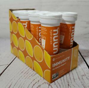 Nuun Hydration Immunity 8 Tubes Case ~ 80 Servings Orange Citrus FAST FREE SHIP