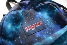 Jansport Unisex Superbreak Galaxy Everyday Backpack Blue Great Condition