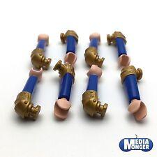 playmobil® Ritter: 4 Paar Arme | gepanzertes Schulterstück gold | blau