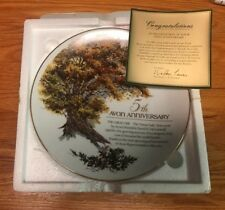 Avon Collector's Plate The Great Oak Decorative , 5th Anneversary new in box