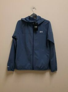 Under Armour Women's UA Woven Branded Full Zip Hoodie size SM/CH {Z172}