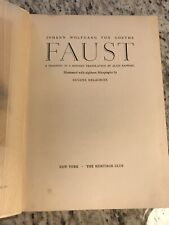 """circa 1930 Antique Literature Book """"Faust"""" by Goethe"""