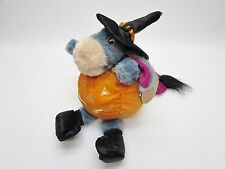 Halloween Eeyore Plush Pumpkin Singing Jack-O-Lantern RARE Witch Costume Lovey