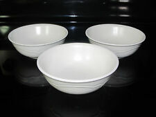 Set of 3 Pfaltgraff Tea Rose Cereal Soup or Salad Bowls no floral pattern