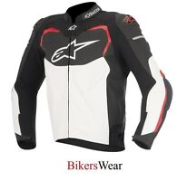 Alpinestars GP Pro Black/White/Red Leather Motorcycle Sports racing Jacket £500