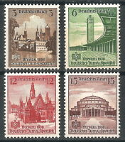 DR Nazi 3rd Reich Rare WW2 WWII WK2 Stamp Swastika Hering Stadium Architecture