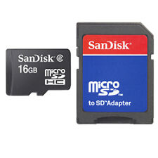 SanDisk microSDHC 16gb Memory Card Class 4 With SD Adapter