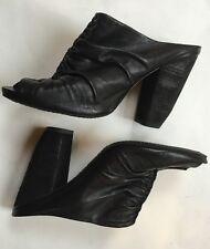 All Saints Black Leather Heels Shoes Size 39